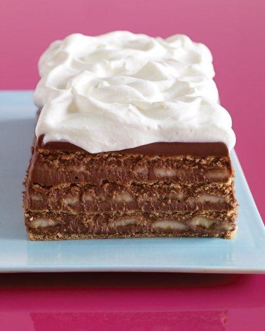 Chocolate, Banana and Graham Cracker Icebox Cake | 27 Delicious No-Bake Icebox Cakes
