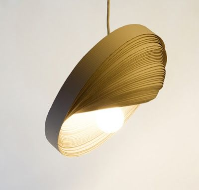 How To Recycle: Recycled Corrugated Cardboard LampShades Home Design Ideas