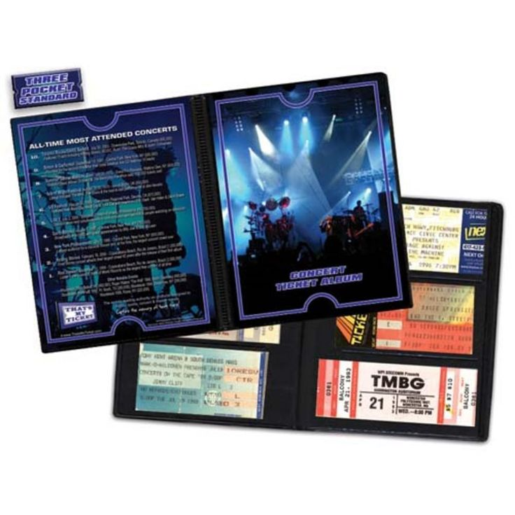 Ticket Album Concerts - Rock Theme (Holds 96 Tickets)