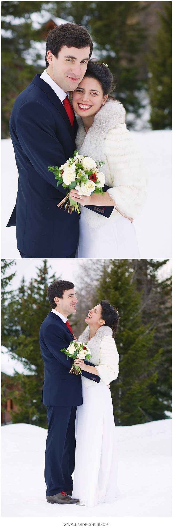 Mariage d'hiver à la montagne - Mariage sous la neige par L'As de Coeur Photo + Cinema - www.lasdecoeur.com