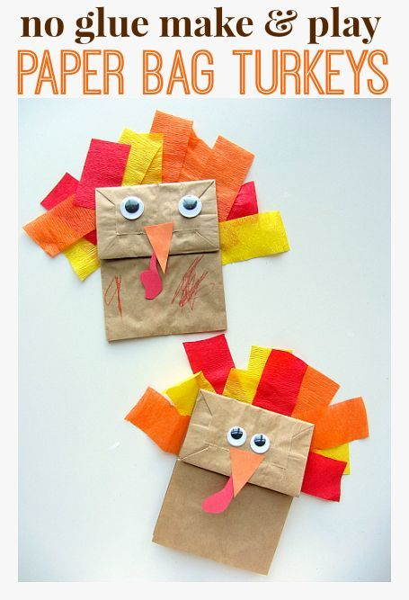 Classic turkey craft made with double stick tape so you can play right away. Perfect kids activity for Thanksgiving gatherings.