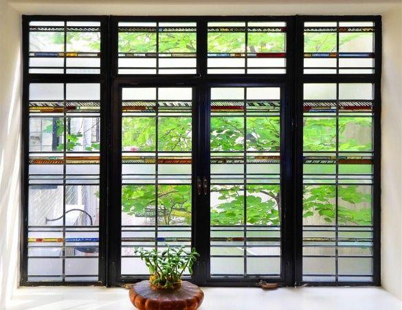 Art Moderne Andrew Rebori House Edgar Miller Stained Glass Window Chicago IL