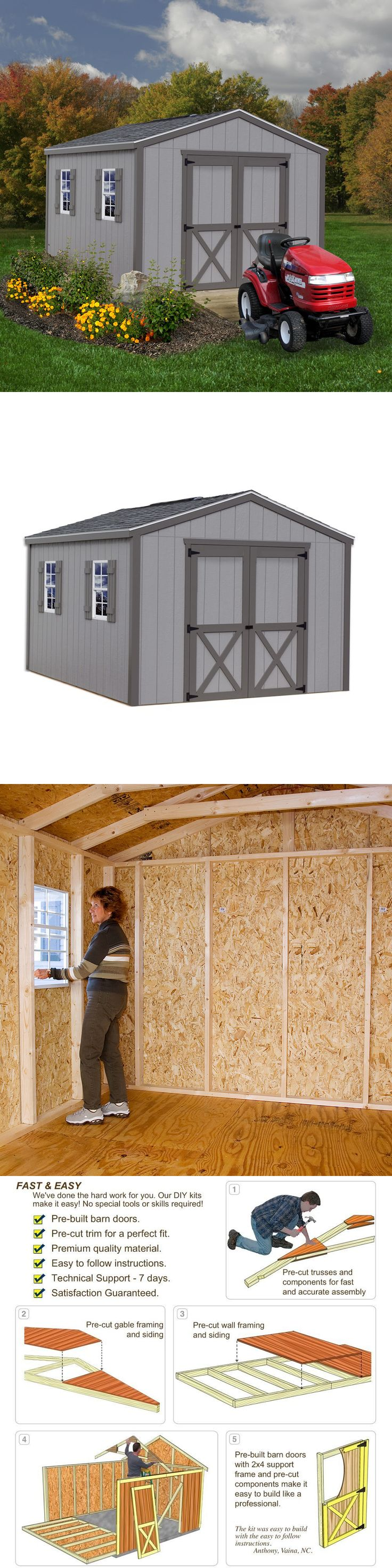 Garden and Storage Sheds 139956: Best Barns Elm 10X16 Shed Kit -> BUY IT NOW ONLY: $1995 on eBay!