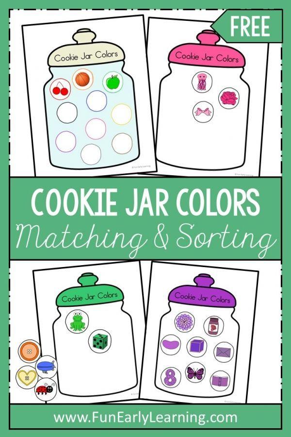 Cookie Jar Colors Activity Preschool Color Activities Color