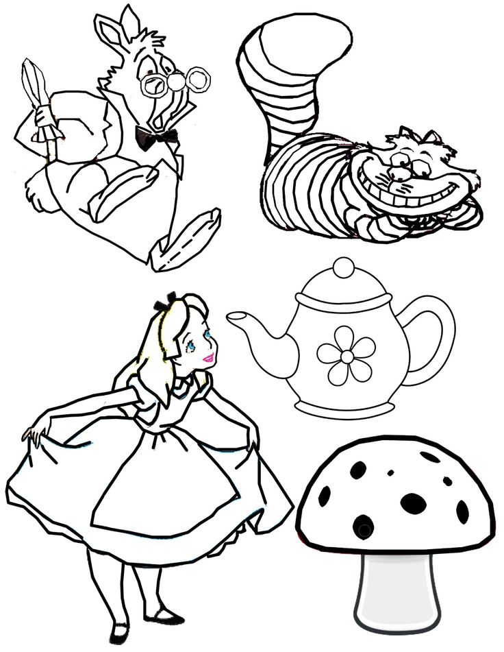 mad hatter coloring pages - photo#21