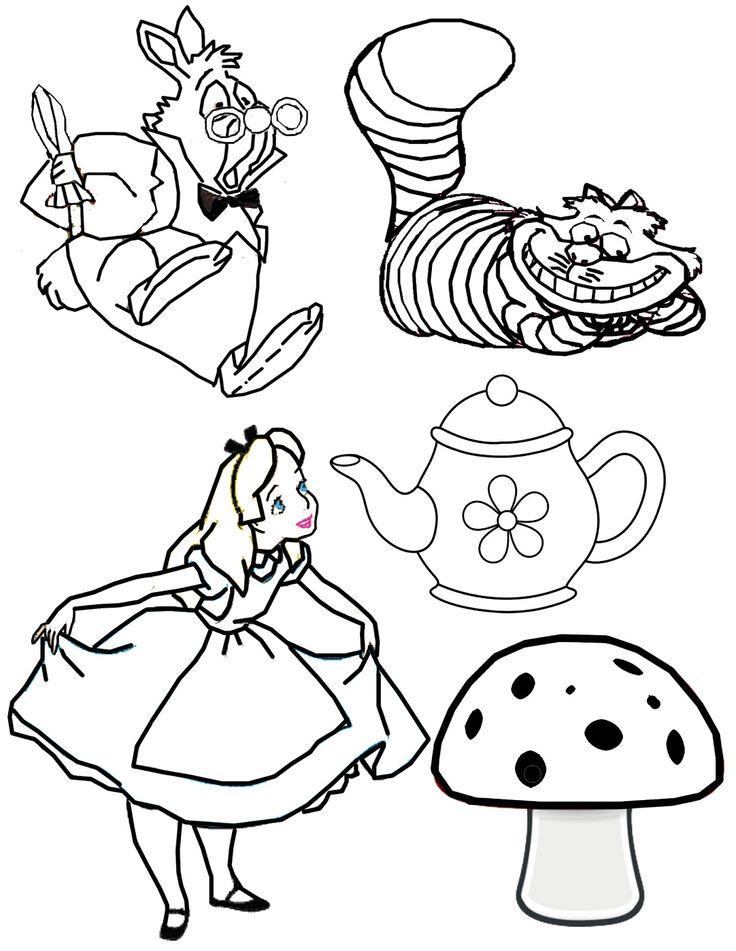 Alice In Wonderland Art Print On Antique Book Page Vintage