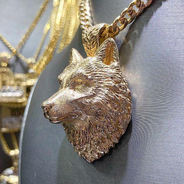 Piece Wolf Head Shape Vintage Necklace Fashion Jewelry Men/'s Gift Pendant