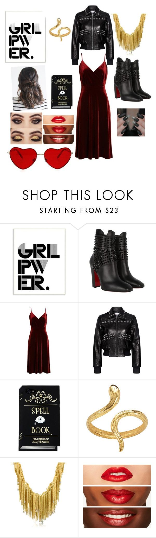 """""""who run the world? GIRLS!"""" by helana-gilstrap ❤ liked on Polyvore featuring Stupell, Christian Louboutin, Ali & Jay, RED Valentino, Madina Visconti di Modrone, Orlando Orlandini, girlpower and powerlook"""