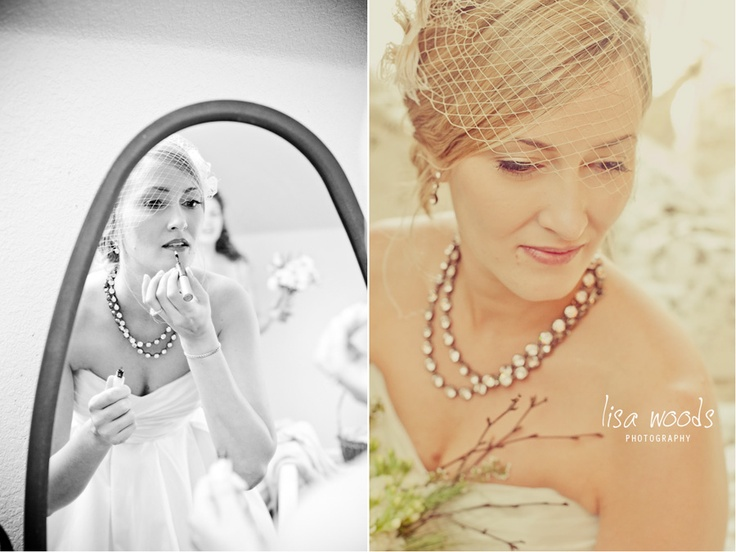 bride on her wedding day getting ready.  @Lisa Mclendon Woods Photography
