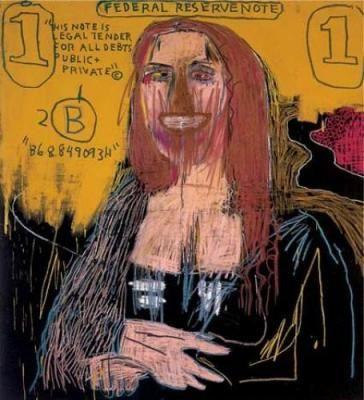 Dénonciation de la société de consommation, considérant l'art plus comme un produit que comme une oeuvre. -  Basquiat