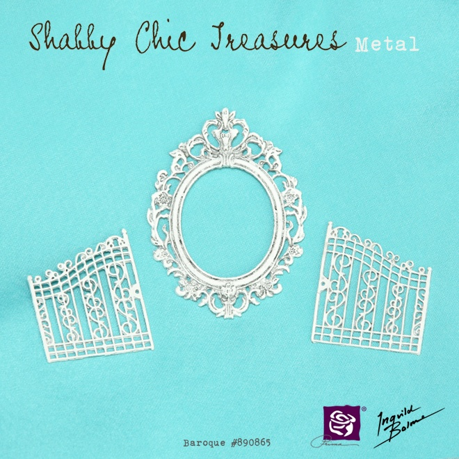 "Shabby Chic Metal Treasures - ""Baroque"" #890865  Prima - Ingvild Bolme"