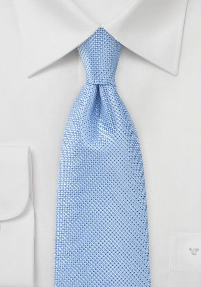 Micro Check Tie in Light Sky-Blue | cheap-neckties.com