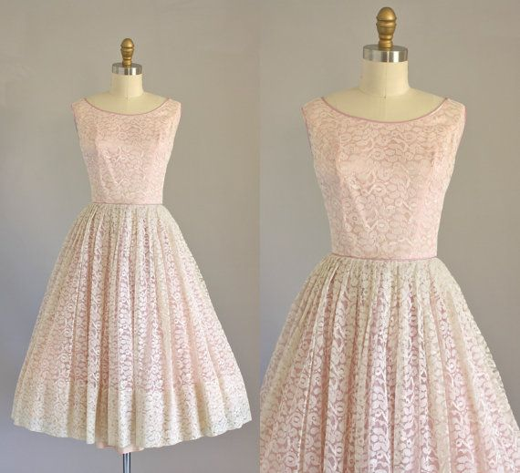 Vintage lace party dress