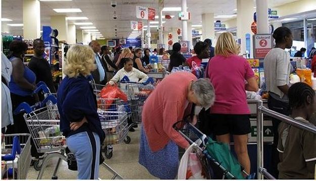 """YES. FINALLY. Now it's time to wait in line full of miserable people """"reading"""" tabloids. 