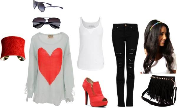 """red casual"" by nicole-beal on Polyvore"