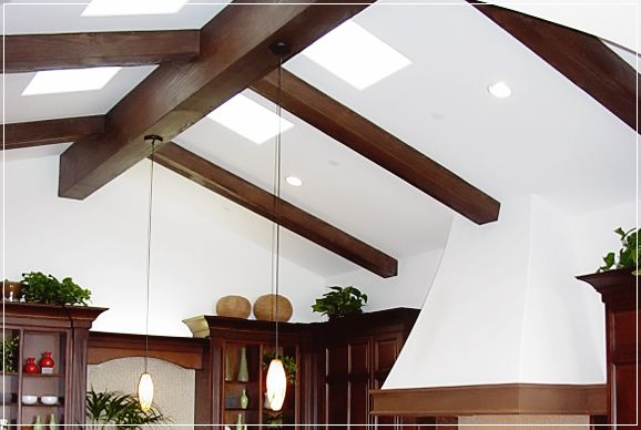 41 best images about ceilings on pinterest sunday for White ceiling with wood beams