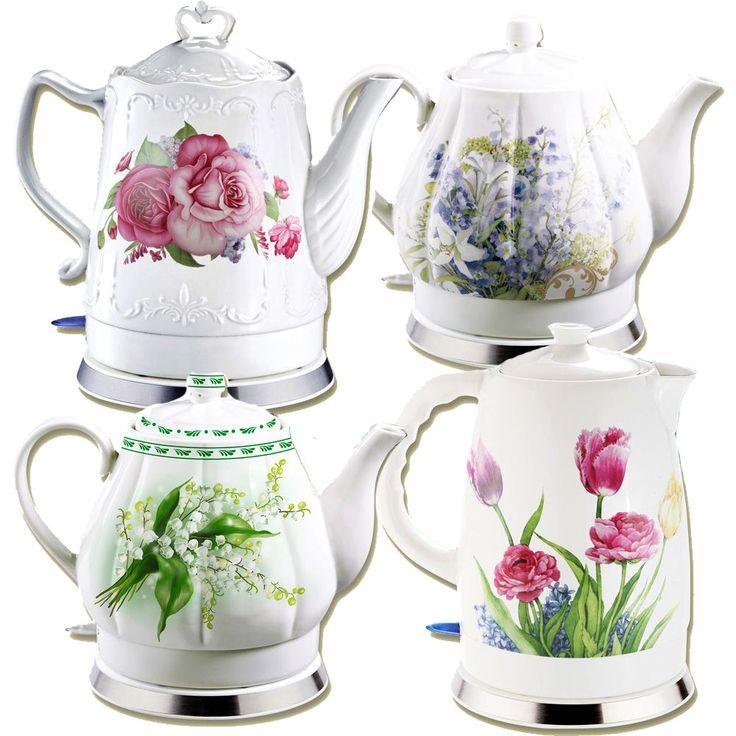 Keramikwasserkocher Wasserkocher Kabellos 1,5L 1,7L. 2L.1300-1600W Blumen
