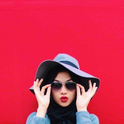 ideas of sun hat with abaya abd hijab (13)