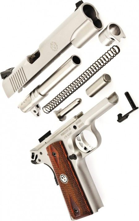 A field-stripped Ruger SR1911 @Thomas Haight's Outdoor Superstore #Firearm #Ruger