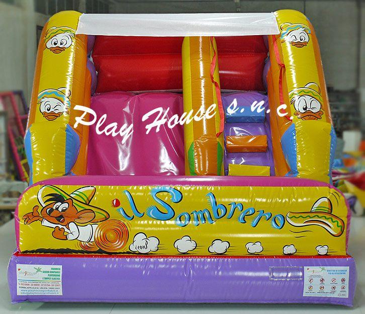 Scivolo gonfiabile che dura una vita! http://playhousegonfiabili.it/scivoli-gonfiabili/scivolo-gonfiabile-il-sombrero-detail.html