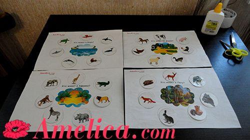 """Игра про животных """"Кто где живет"""" развивающие игры своими руками, карточки животные, карточки для детей, для знакомства малыша с окружающим и животным миром"""