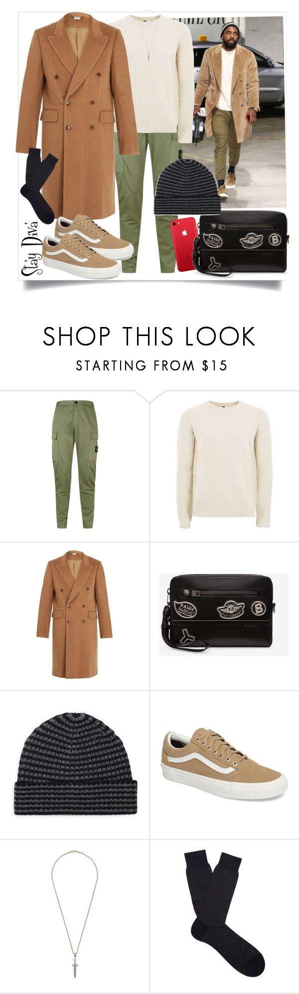 """Kyrie Irving"" by staydiva ❤ liked on Polyvore featuring STONE ISLAND, Topman, Vetements, Bally, Saks Fifth Avenue, Vans, Roman Paul, Pantherella, men's fashion and menswear"