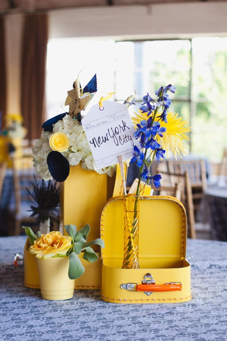 14 best Suitcase floral arrangements images on Pinterest | Floral ...