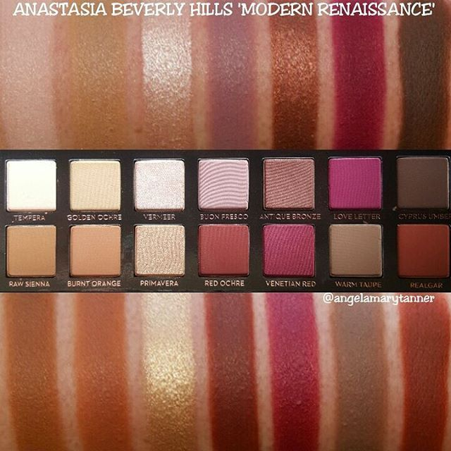 ABH 'MODERN RENAISSANCE' PALETTE ($42) - @angelmarytanner on Instagram (I can't copy and paste this users description of this particular product but if you go on her instagram, you'll be reading a very detailed and useful review. I know I'll go back and readit myself.)