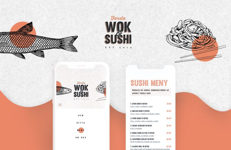 Website and logotype design for Sushi and Wok restaurant.