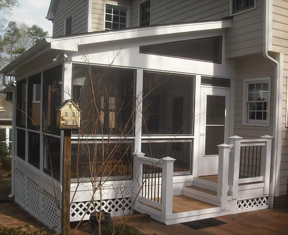 Nice details porch pinterest screened porches porch for Shed roof screened porch plans