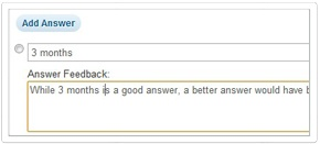 Immediate Question Feedback    Option to provide learner's with immediate feedback after each question is answered.
