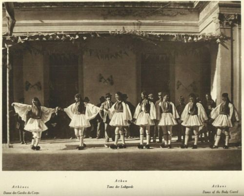 Hanns Holdt - Athènes, Danse des Gardes du Corps/Athen, Tanz der Leibgarde/Athens, Danse of the Body Guard / 1928