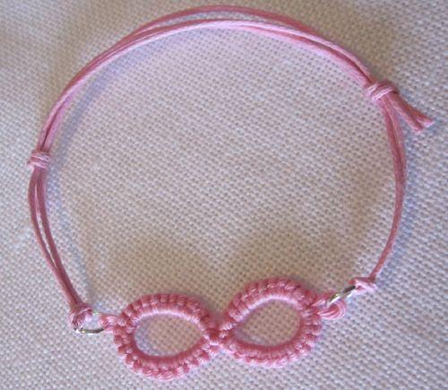Braccialetto Infinito pizzo chiacchierino - rosa