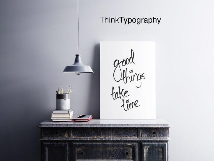 Les bonnes choses prennent du temps, Décorations pour la maison, Affiches minimalistes, Noir et blanc, Reproduction d'art, Design minimal, Gravures murales rétro, Art numérique   – home