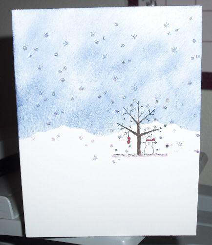 Снег на открытке своими руками
