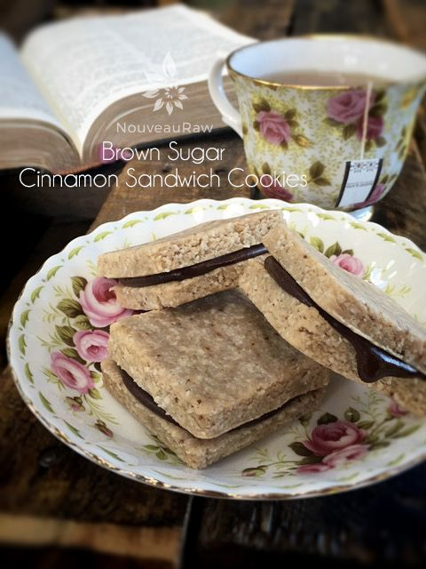 Brown Sugar Cinnamon Sandwich Cookies (raw, vegan, gluten-free)