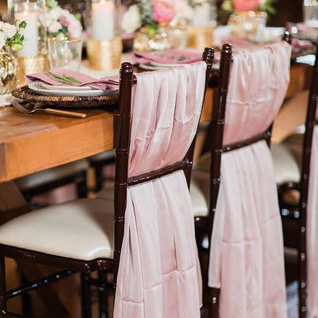 This Beautiful Blush Pink Looks Amazing Along With Our Mahogany Chiavari Chairs Get Your Venue