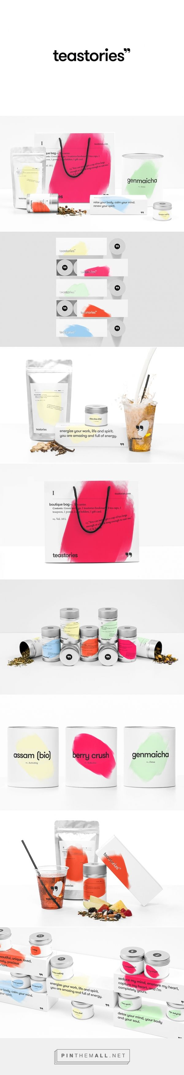 Teastories packaging branding via Anagrama curated by Packaging Diva PD. Teastories is a tea store offering selected premium tea products located in Vienna.
