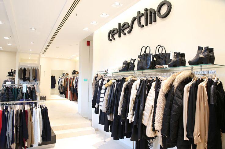 CELESTINO store in Escape Center. 67A Democratias Ave., tel: 210 2311777