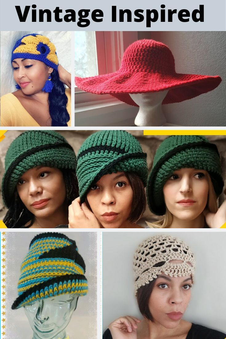 Vintage Crochet Hat Patterns In 2020 With Images Crochet Hats