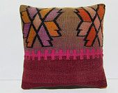 retro pillowcase 18x18 vintage pillowcase modern cushion cover floor cushion cover bohemian cushion oversize cushion kilim pillow sham 29992