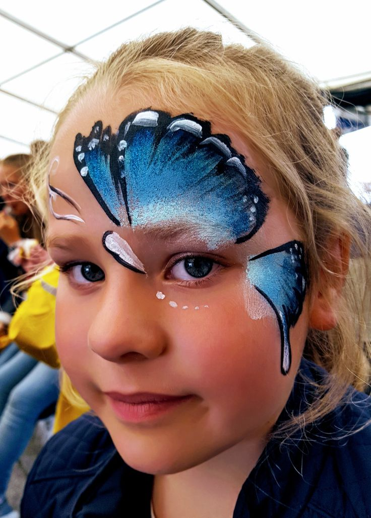 Face painting butterfly by kerstin