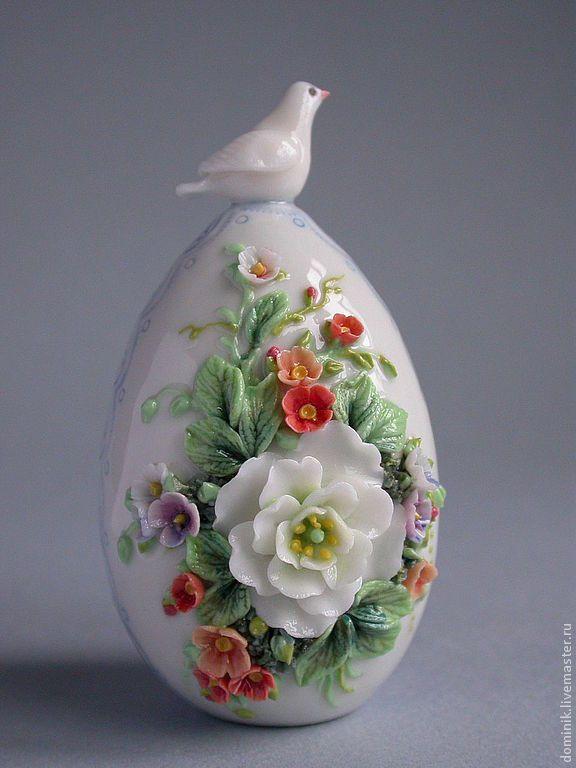 Купить Пасхальное яйцо с голубем - пасхальное яйцо, Пасха, пасхальный сувенир, пасхальный подарок