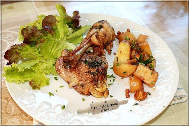 LA TABLE LORRAINE D'AMELIE: Cuisses de poulet paysanne aux pommes de terre et girolles