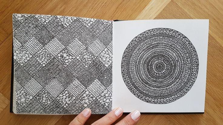 #sketch #doodle #black #ink #sketchbook #circle #pattern