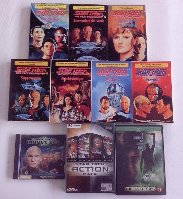 Nu in de #Catawiki veilingen: Items from Star Trek (7 books, 4 PC games & DVD)