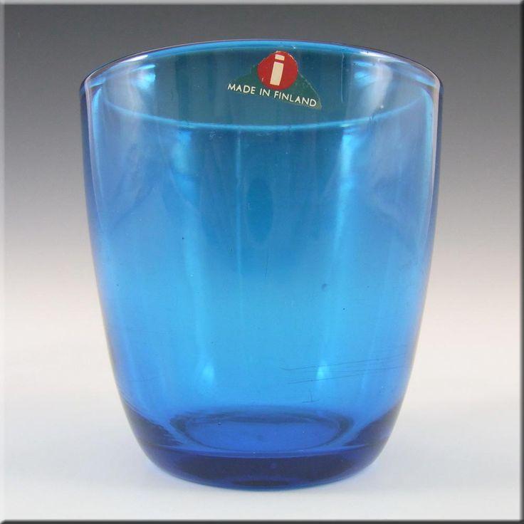 Iittala Tapio Wirkkala Blue Glass Tumbler 4090 - Label - £19.99
