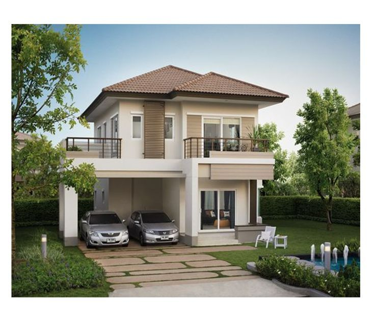 The Small Two Story House Is One Of The Most Popular House Design Of All Time W Desi Two Story House Design Bungalow House Design Small House Architecture