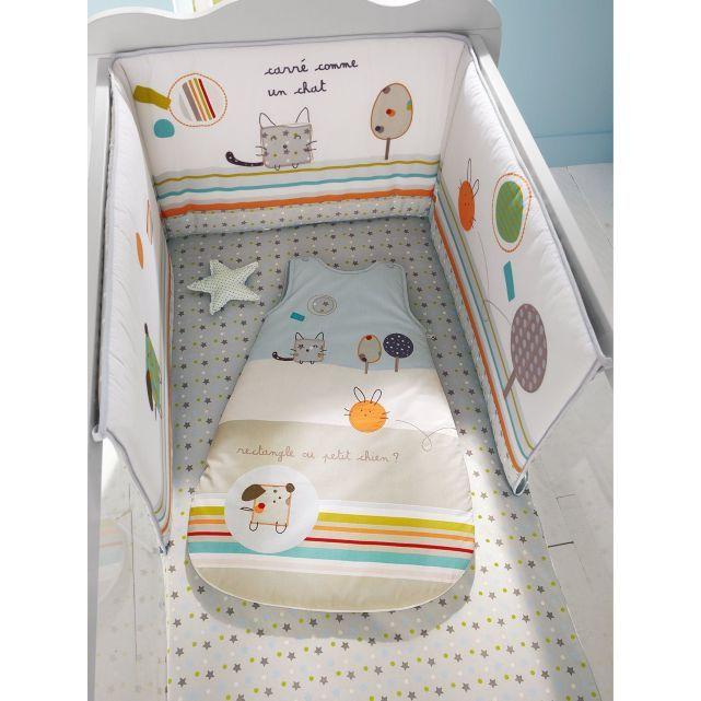 Tour de lit  bébé thème Zaminis, Vertbaudet