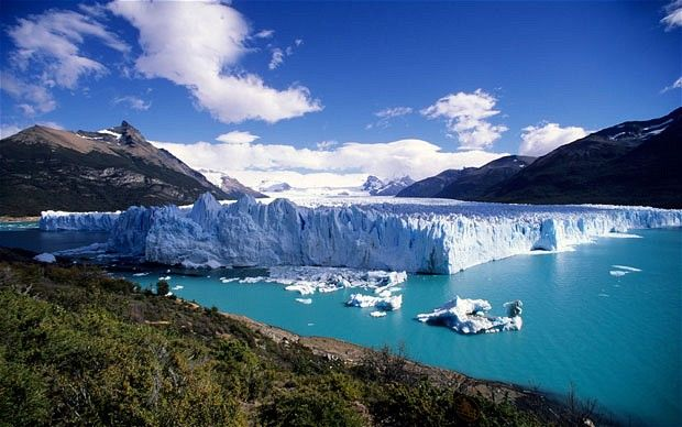 Patagonia, the Moreno Glacier, in South America.